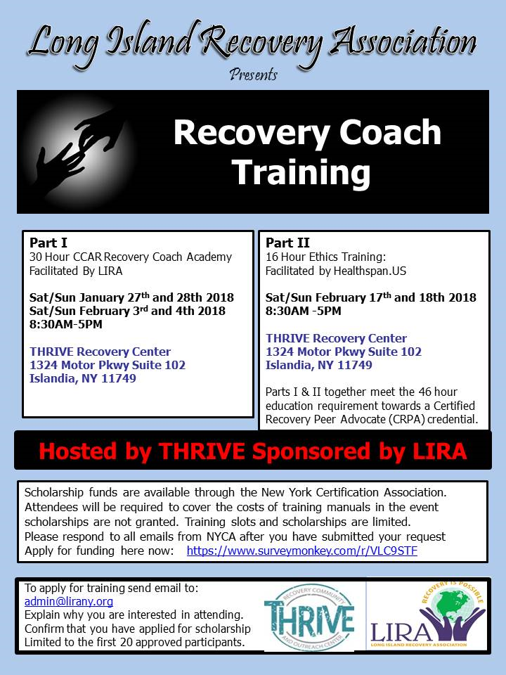 Lira Recovery Coach Training Part I 30hr Recovery Coach Academy