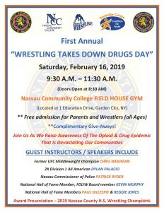 thumbnail of Wrestling Takes Down Drugs Flyer (002)