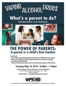 thumbnail of Opioid May 2019 Flyer Parent Roundtable