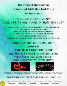 thumbnail of The Town of Huntington Recovery Event Flyer October 28 2019