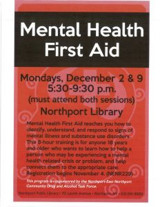thumbnail of Mental Health First Aid Northport Library